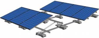 Montage systeem zonnepanelen plat dak portrait