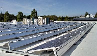 Montage systeem zonnepanelen voor plat dak landscape lage ballast
