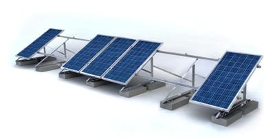 Montage systeem zonnepanelen plat dak
